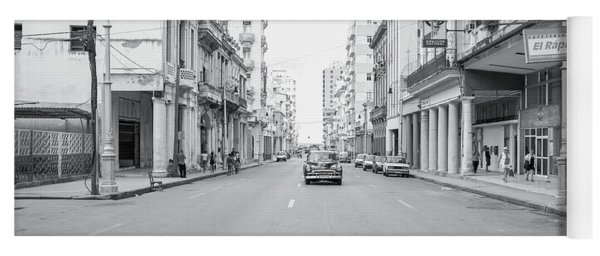 Yoga Mat featuring the photograph City Street, Havana by Mark Duehmig