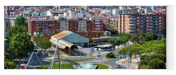 Cityscape In Reus, Spain Yoga Mat