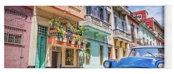 Classic Car In Havana, Cuba Yoga Mat