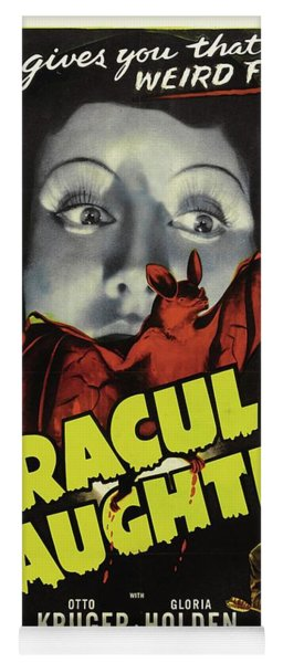 Classic Movie Poster - Draculas Daughter Yoga Mat