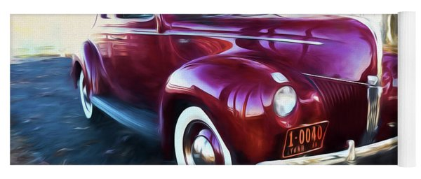 Classic Red Car 1940 Yoga Mat