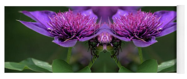 Yoga Mat featuring the photograph Clematis 2 by Buddy Scott
