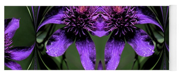 Yoga Mat featuring the photograph Clematis 5 by Buddy Scott