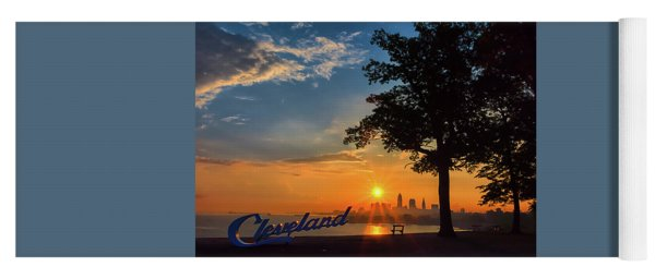 Cleveland Sign Sunrise Yoga Mat