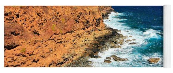 Cliff On Pacific Ocean Yoga Mat