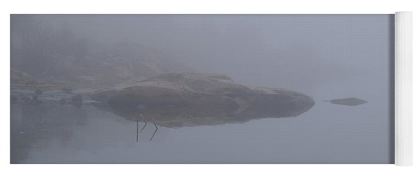Cliffs In Fog Yoga Mat