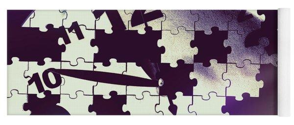 Clock Holes And Puzzle Pieces Yoga Mat