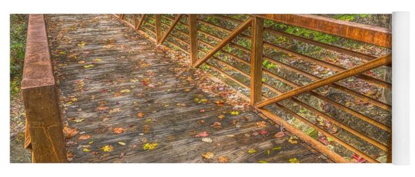 Close Up Of Bridge At Pine Quarry Park Yoga Mat