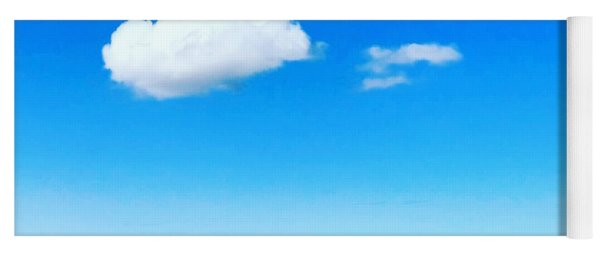 Cloud In Blue Yoga Mat