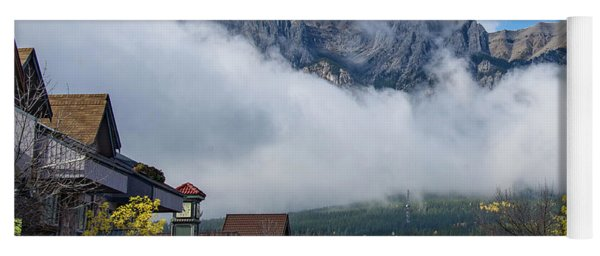 Clouds Over Canmore Yoga Mat