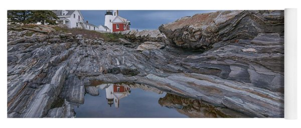 Cloudy Afternoon At Pemaquid Point Yoga Mat