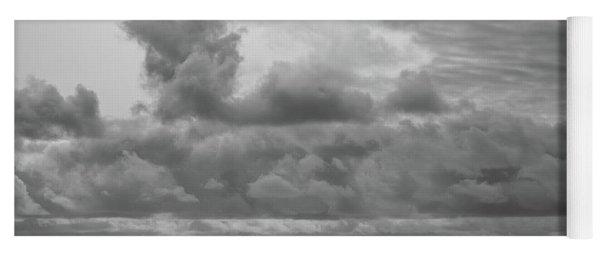 Cloudy Morning Rough Waves Yoga Mat