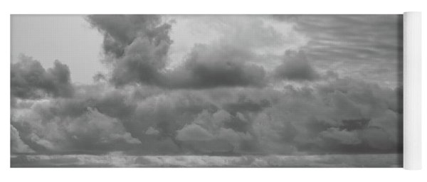 Yoga Mat featuring the photograph Cloudy Morning Rough Waves by Steve Stanger