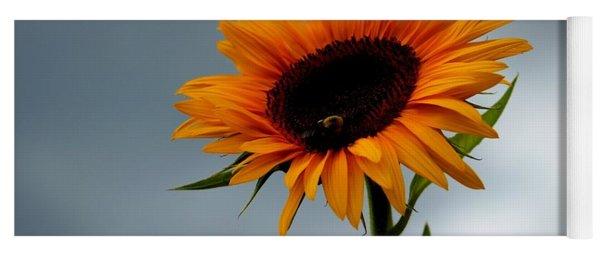 Cloudy Sunflower Yoga Mat