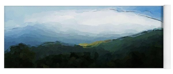 Cloudy View Painting Yoga Mat