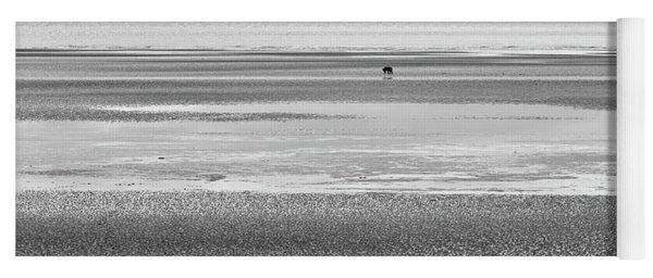 Coastal Brown Bear On  A Beach In Monochrome Yoga Mat