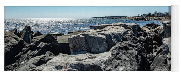 Coastline Of Maine Yoga Mat