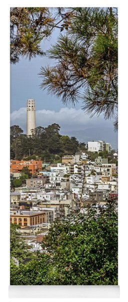 Coit Tower Through Trees Yoga Mat