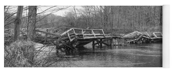 Collapsed Bridge At Waterloo Village Yoga Mat