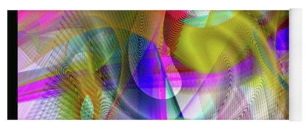Yoga Mat featuring the digital art Color Full by Visual Artist Frank Bonilla