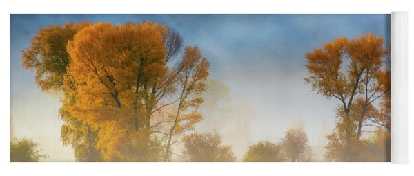 Colorado Autumn Fog Yoga Mat