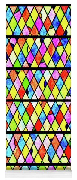 Colored Diamonds Yoga Mat