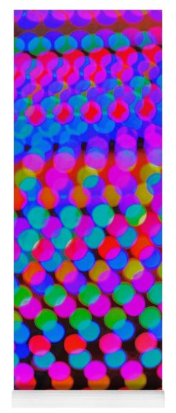 Colored Lights Yoga Mat