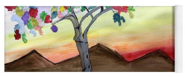 Colored Tree Yoga Mat