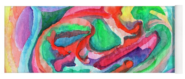 Colorful Abstraction Yoga Mat