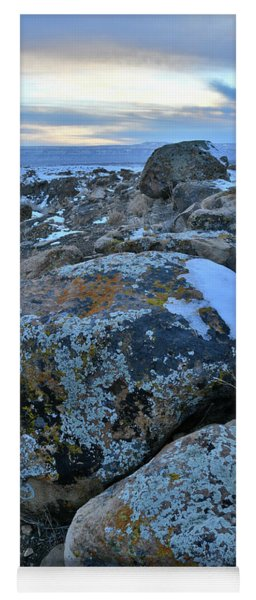 Colorful Boulders At Sunset In The Book Cliffs Yoga Mat