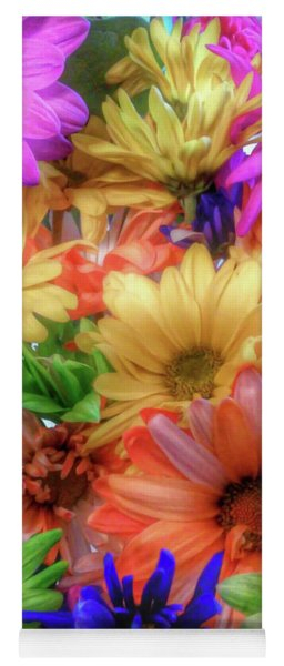 Colorful Bouquet Yoga Mat