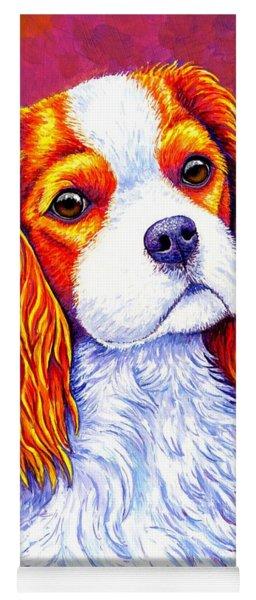 Colorful Cavalier King Charles Spaniel Dog Yoga Mat