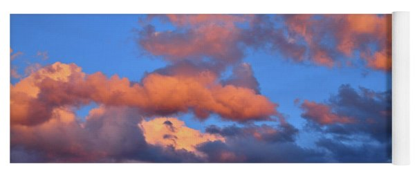 Colorful Clouds At Sunset In Grand Junction Colorado Yoga Mat