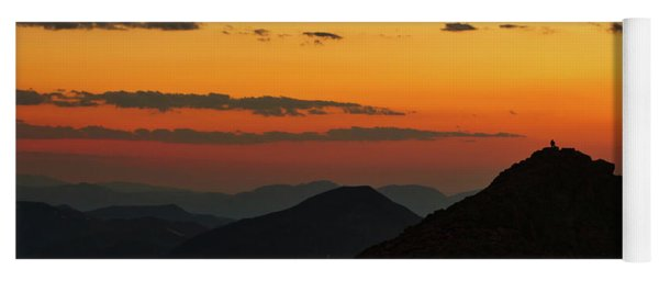 Evening At Mount Evans Yoga Mat