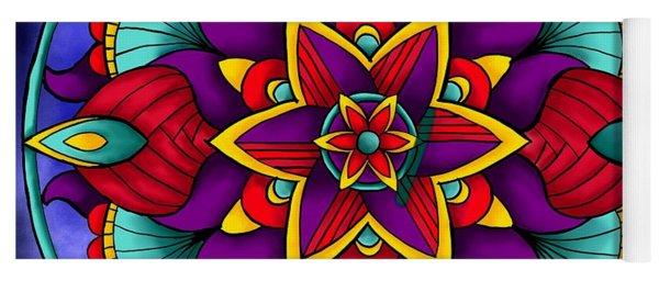 Colorful Flower Mandala Yoga Mat