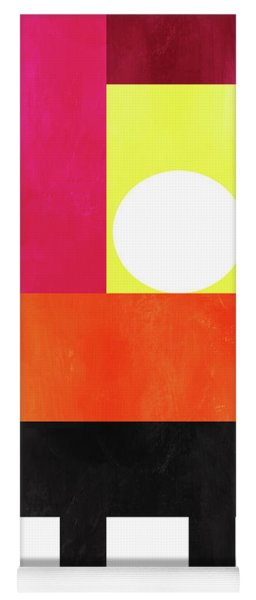 Yoga Mat featuring the mixed media Colorful Geometric Abstract 1- Art By Linda Woods by Linda Woods