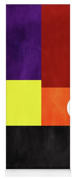 Yoga Mat featuring the mixed media Colorful Geometric Abstract 3- Art By Linda Woods by Linda Woods