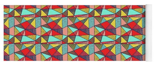 Colorful Geometric Abstract Pattern Yoga Mat