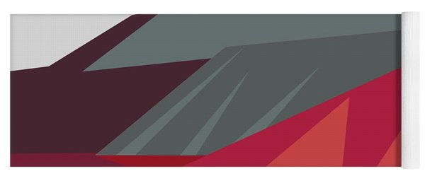 Colorful Geometric Mountains Yoga Mat