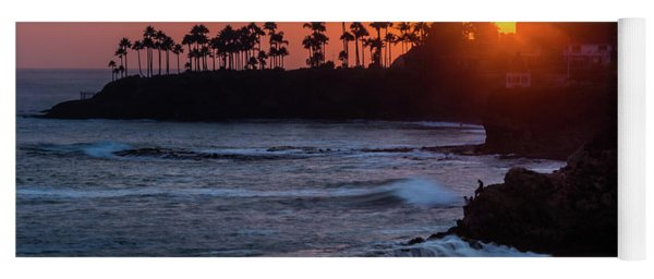 Colorful Laguna Beach Sunset Yoga Mat
