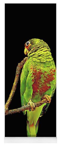 Colorful Parrot Yoga Mat
