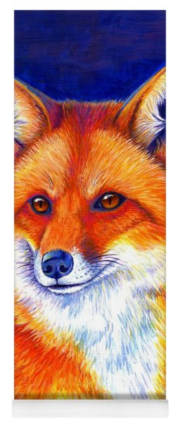 Colorful Red Fox Yoga Mat