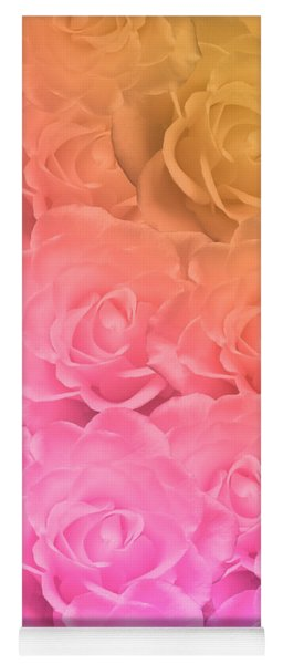 Colorful Roses Art Design Yoga Mat