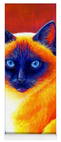 Jewel Of The Orient - Colorful Siamese Cat Yoga Mat