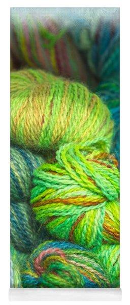 Colorful Skeins Of Yarn Yoga Mat