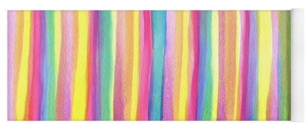 Colorful Striped Yoga Mat