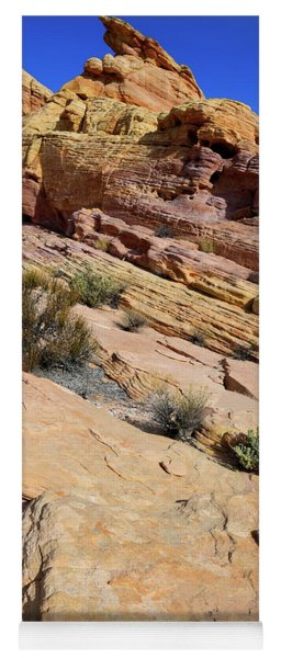 Colorful Tilted Sandstone In Valley Of Fire Yoga Mat