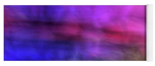 Colorful Watercolor Abstract Art With Pinks Purples And Greens Yoga Mat