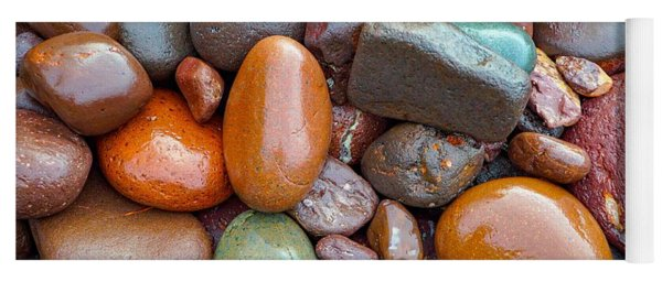 Colorful Wet Stones Yoga Mat