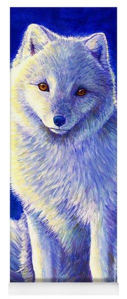Colorful Winter Arctic Fox Yoga Mat